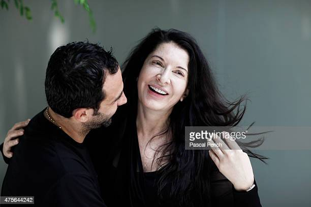 Artist Marina Abramovic and designer Riccardo Tisci are photographed for Financial Times on June 1 in New York City
