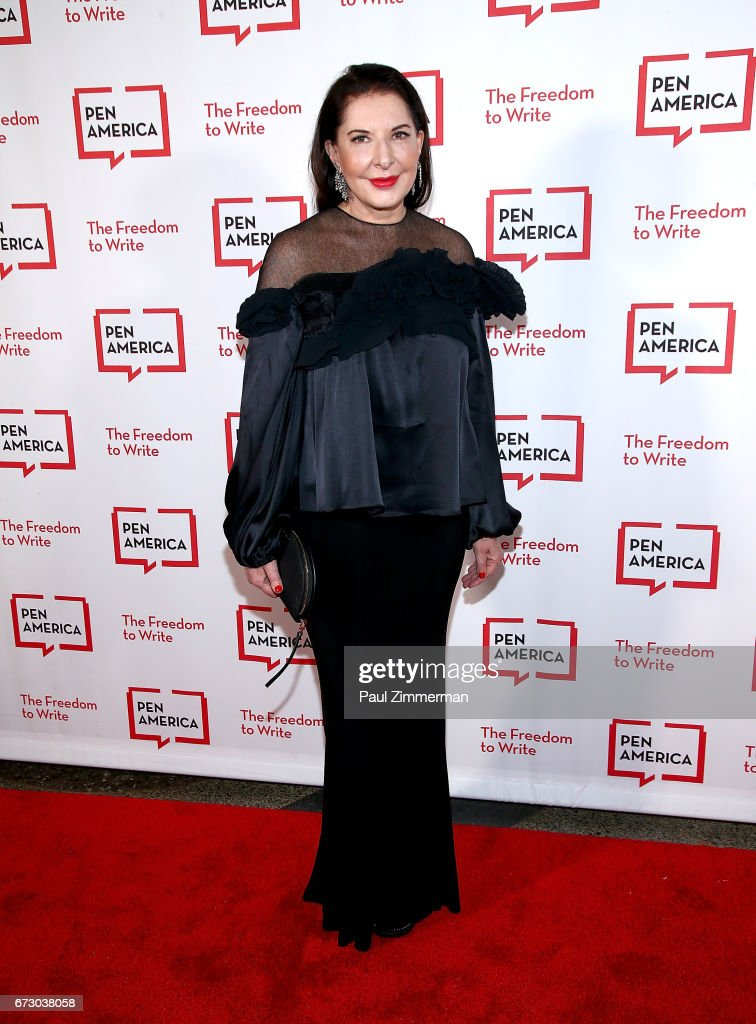 Artist Marina Abramovic attends PEN America's 2017 Literary Gala Red Carpet at American Museum of Natural History on April 25, 2017 in New York City.