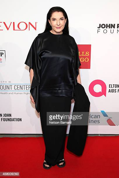 Artist Marina Abramovic attends the Elton John AIDS Foundation's 13th Annual An Enduring Vision Benefit at Cipriani Wall Street powered by CIROC...