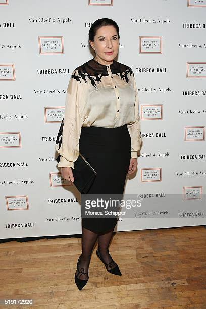 Artist Marina Abramovic attends the New York Academy Of Art's Tribeca Ball 2016 on April 4 2016 in New York City