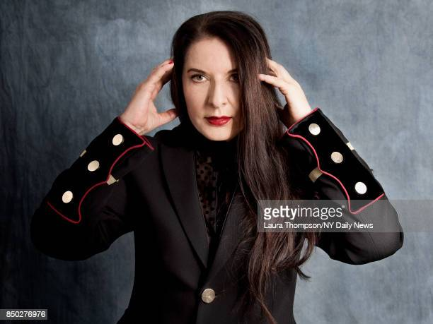 Artist Marina Abramovic is photographed for NY Daily News on April 23 2017 at Tribeca Film Festival in New York City CREDIT MUST READ Laura...