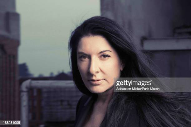 Artist Marina Abramovic is photographed for Paris Match on April 4 2013 in New York City