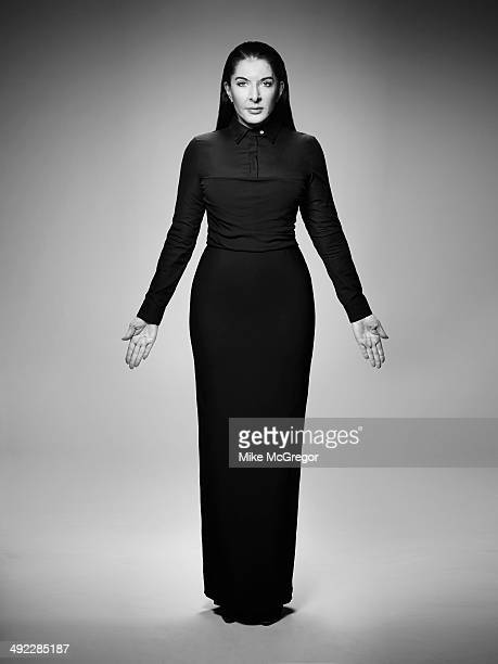 Artist Marina Abramovic is photographed for The Guardian Newspaper on April 17 2014 in New York City