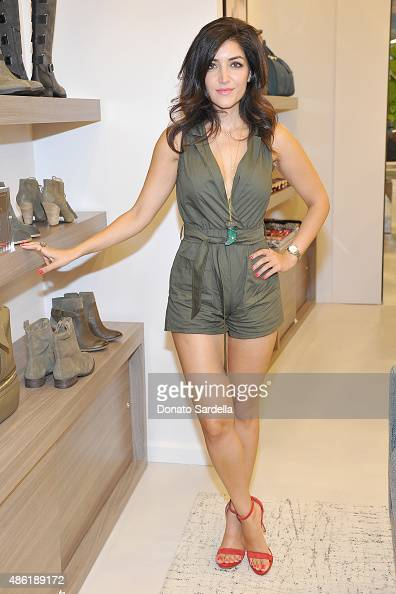 Artist Maryam Gueramian attends the opening of Sole Society on September 1 2015 in Santa Monica California
