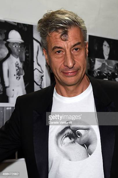 Artist Maurizio Cattelan attends 'SHIT AND DIE' Vernissage at palazzo Cavour on November 5 2014 in Turin Italy