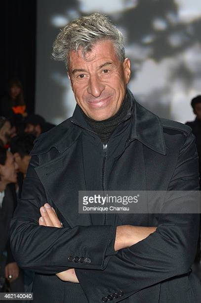 Artist Maurizio Cattelan attends the Y3 Menswear Fall/Winter 20152016 Show as part of Paris Fashion Week on January 25 2015 in Paris France