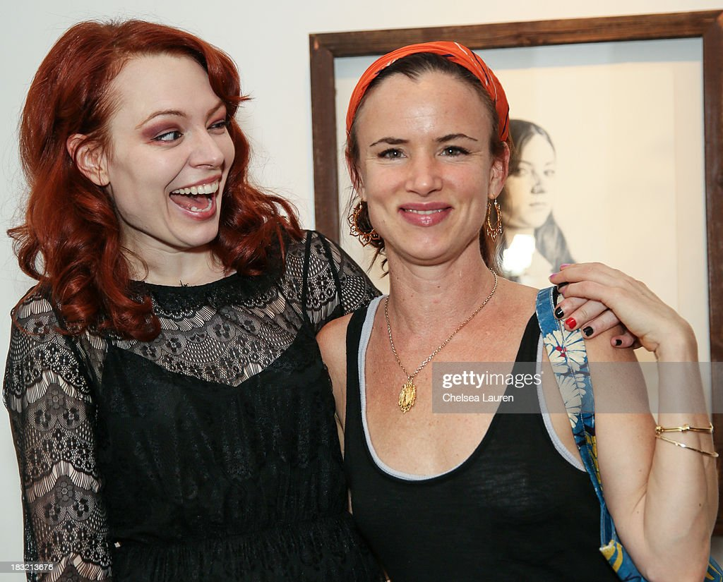 Artist Mercedes Helnwein (L) and actress <a gi-track='captionPersonalityLinkClicked' href=/galleries/search?phrase=Juliette+Lewis&family=editorial&specificpeople=202873 ng-click='$event.stopPropagation()'>Juliette Lewis</a> attend the opening reception for Mercedes Helnwein's exhibit 'The Trouble With Dreams' at Merry Karnowsky Gallery on October 5, 2013 in Los Angeles, California.