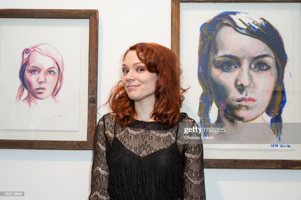 Artist Mercedes Helnwein attends the opening reception for her exhibit 'The Trouble With Dreams' at Merry Karnowsky Gallery on October 5, 2013 in Los Angeles, California.