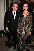 Artist Mikhail Baryshnikov and Bianca Jagger attend Dancing Away photographic exhibition by Mikhail Baryshnikov at ContiniArtUK co hosted by Damiani...