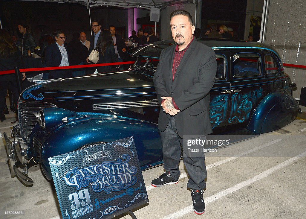 Artist Mister Cartoon attends SA Studios and Mister Cartoon VIP Screening and After Party of Warner Brothers Pictures 'Gangster Squad' at SA Studios on November 29, 2012 in Los Angeles, California.