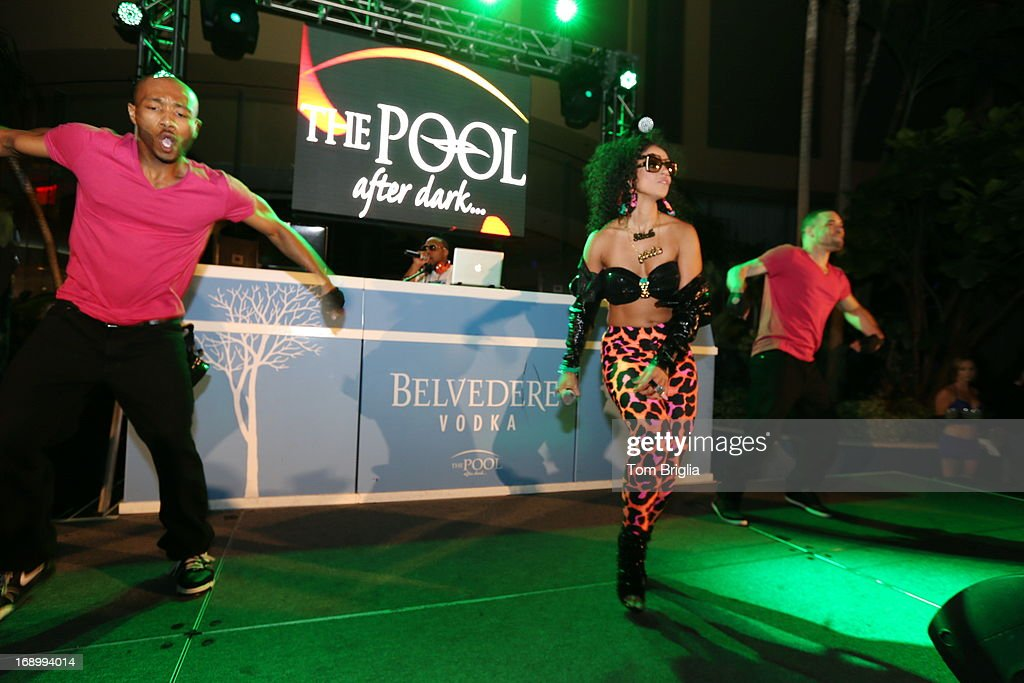 Artist <a gi-track='captionPersonalityLinkClicked' href=/galleries/search?phrase=Mya&family=editorial&specificpeople=202965 ng-click='$event.stopPropagation()'>Mya</a> performs at The Pool After Dark, Harrah's Resort, on Friday May 17, 2013 in Atlantic City New Jersey.