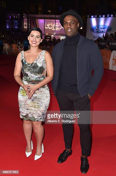 Artist Nelly Furtado and actor Karl Campbell attend the 'Hyena Road' premiere during the 2015 Toronto International Film Festival at Roy Thomson Hall...