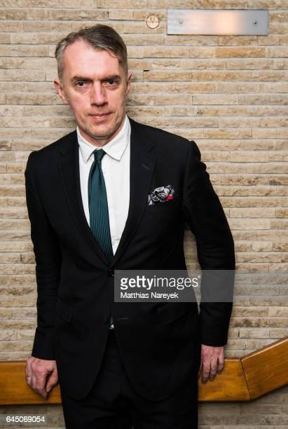 Artist Neo Rauch attends the 'Neo Rauch Gefaehrten und Begleiter' premiere at Kino International on February 24 2017 in Berlin Germany