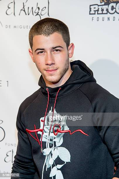 Artist Nick Jonas attends the 2016 Roc Nation Summer Classic Charity Basketball Tournament at Barclays Center of Brooklyn on July 21 2016 in New York...