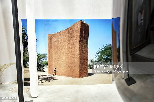 Artist Not Vital is photographed for Madame Figaro on July 14 2016 in Sent Switzerland Photograph of the MoonWatch Tower in Agadez in Niger PUBLISHED...