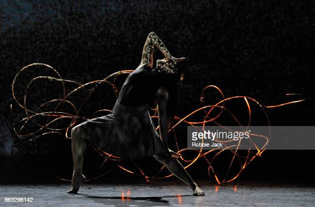 Artist of the company in Shobana Jeyasingh's Bayadere The Ninth Life at Sadler's Wells Theatre on October 17 2017 in London England