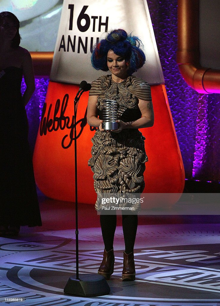 Artist of the Year Bjork attends the 16th Annual Webby Awards at Hammerstein Ballroom on May 21, 2012 in New York City.