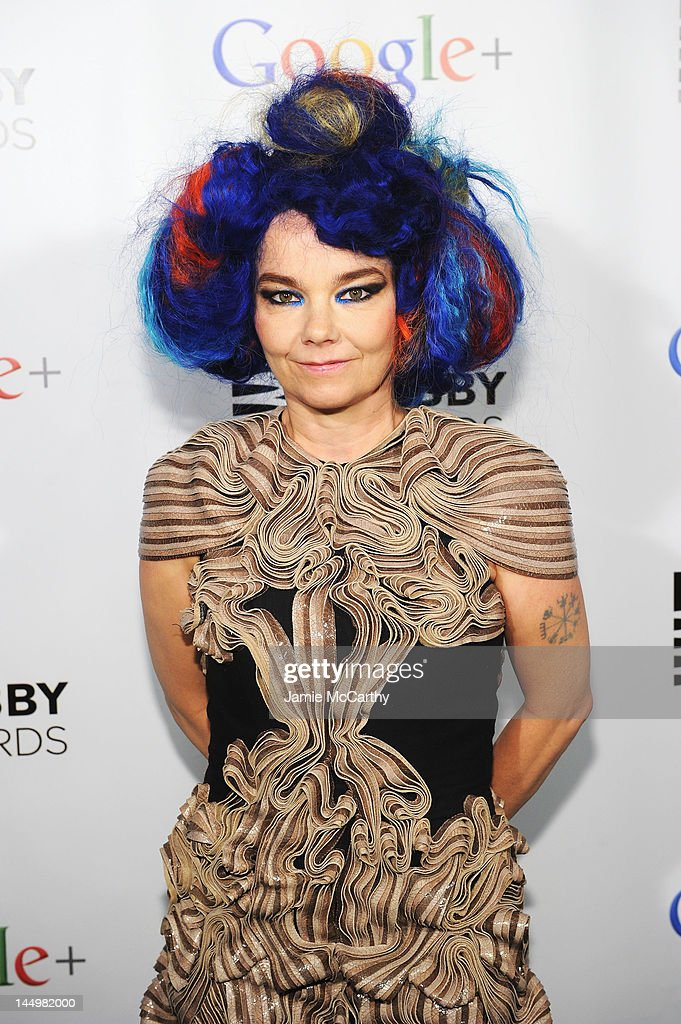 Artist of the Year Bjork attends the 16th Annual Webby Awards on May 21, 2012 in New York City.