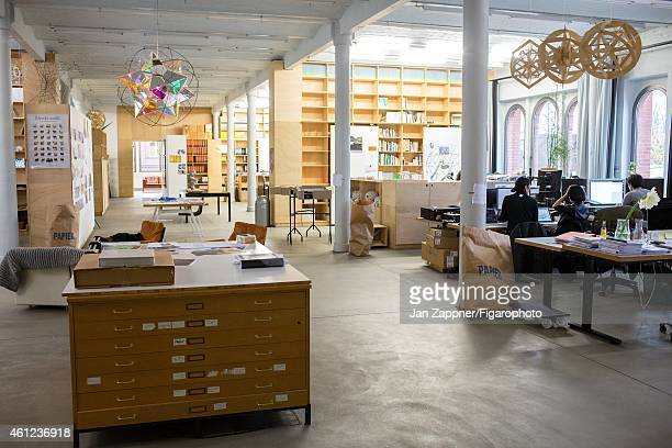 Artist Olafur Eliasson's 'Creative Lab' is photographed for Madame Figaro on November 19 2013 in Berlin Germany A hundred people work there divided...