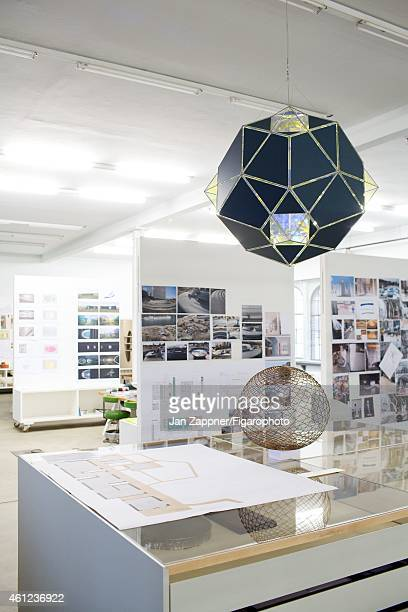 Artist Olafur Eliasson's 'Creative Lab' is photographed for Madame Figaro on November 19 2013 in Berlin Germany It is in this setting that is both...