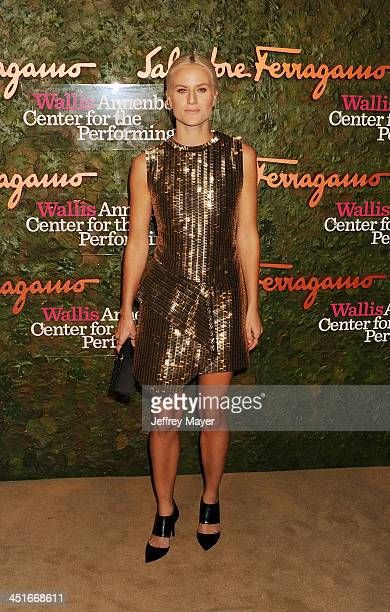 Artist Olympia Scarry arrives at the Wallis Annenberg Center For The Performing Arts Inaugural Gala at Wallis Annenberg Center for the Performing...