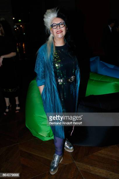 Artist Orlan attends the 'Bal Jaune Elastique 2017' Dinner Party at Palais Brongniart during FIAC on October 20 2017 in Paris France