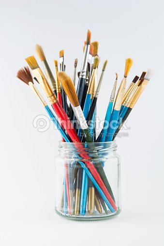 how to clean glass paint brushes