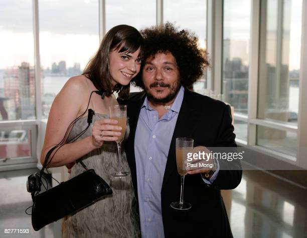 Artist Pascal Dangin and guet attend Le Mer Celebrates 'Liquid Light' By Fabien Baron at The Glass House on September 10 2008 in New York City