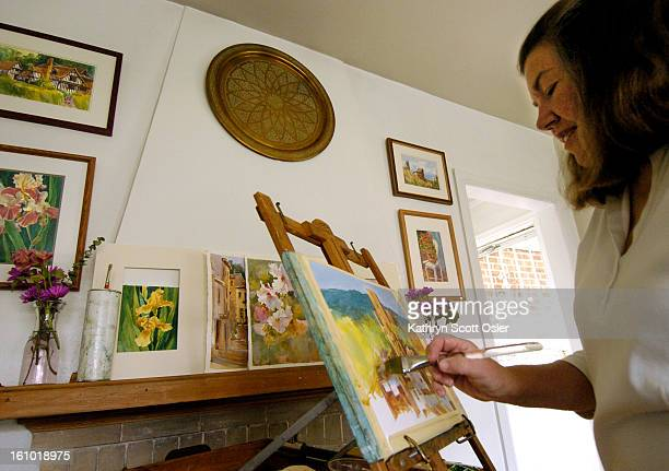 DENVER CO APRIL 26 2005 Artist Patricia<cq> Barr<cq> Clarke<cq> strarted painting when she was a little girl in Kansas 'I always painted outdoors and...