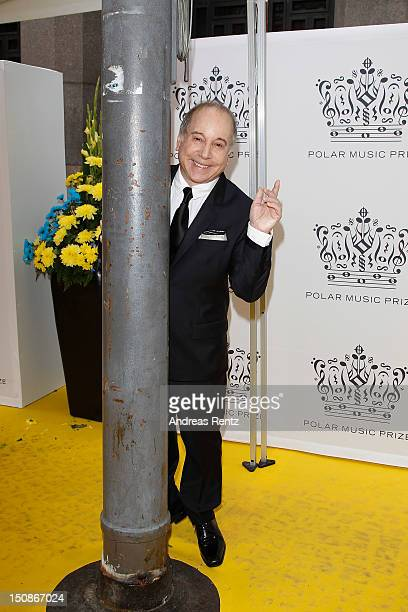 Artist Paul Simon arrives for the Polar Music Prize at Konserthuset on August 28 2012 in Stockholm Sweden
