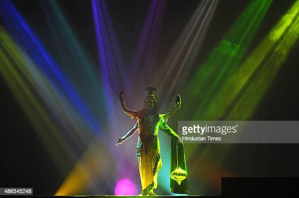 Artist perform a Dance Drama Krishna depicting Krishna Janam RadhaKrishna Milan Maan Lila Raas Lila Kansa Badh Sudama Charitra at Shriram Bharatiya...