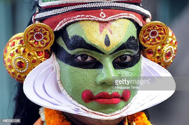 Artist performing cultural programmes as Delhi BJP's South Indian workers celebrated Onam 2015 at Delhi BJP Party office on September 27 2015 in New...