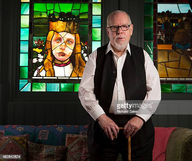 Artist Peter Blake is photographed for the Observer on November 21 2014 in London England
