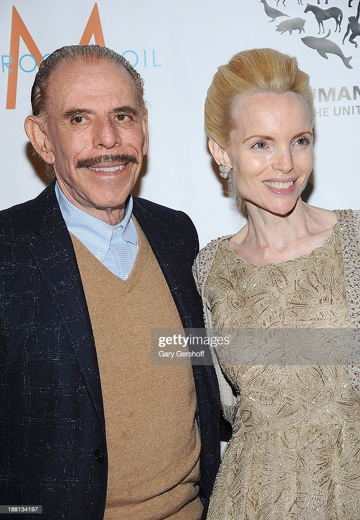 Artist Peter Max and HSUS Board of Directors member Mary Max attend HSUS 'To the Rescue New York' benefit at Cipriani 42nd Street on November 15 2013...