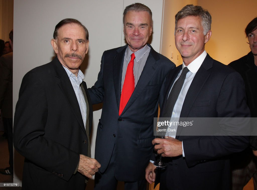Artist Peter Max Gordon Bethune and NYAA President David Kratz attend New York Academy Of Art's 18th annual Take Home A Nude art auction benefit at...