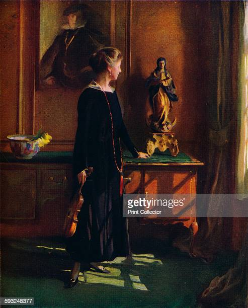 Artist Philip A de Laszlo 'Lucy de Laszlo the artists wife' 1919 Lucy de László nee Guinness member of the banking branch of the Guinness family and...