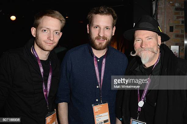 Artist Philipp Mass Dominik Stockhausen and Michael Reed Mclaughlin attend the New Frontier Party For Filmmakers during the 2016 Sundance Film...