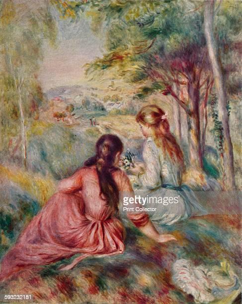 Artist PierreAuguste Renoir 'In the Meadow' circa 1888 Painting held at The Metropolitan Museum of Art New York From The Studio Volume 117 [The...