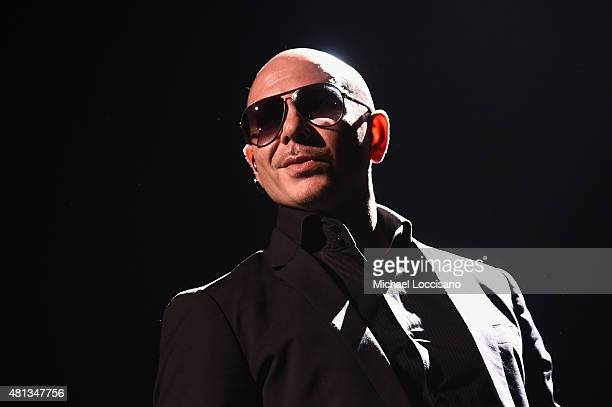 Artist Pitbull performs onstage at a oneofakind concert experience in New York City PlentiTogether LIVE bringing to life the better together theme of...