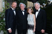 Artist Rainer Andreesen editorinchief of Vanity Fair Graydon Carter Anna Carter and actor Victor Garber arrive for the 2013 Vanity Fair Oscar Party...