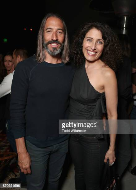 Artist Robert Russell and actor Lisa Edelstein attend the red carpet premiere of Amazon's forthcoming series 'I Love Dick' at The Linwood Dunn...