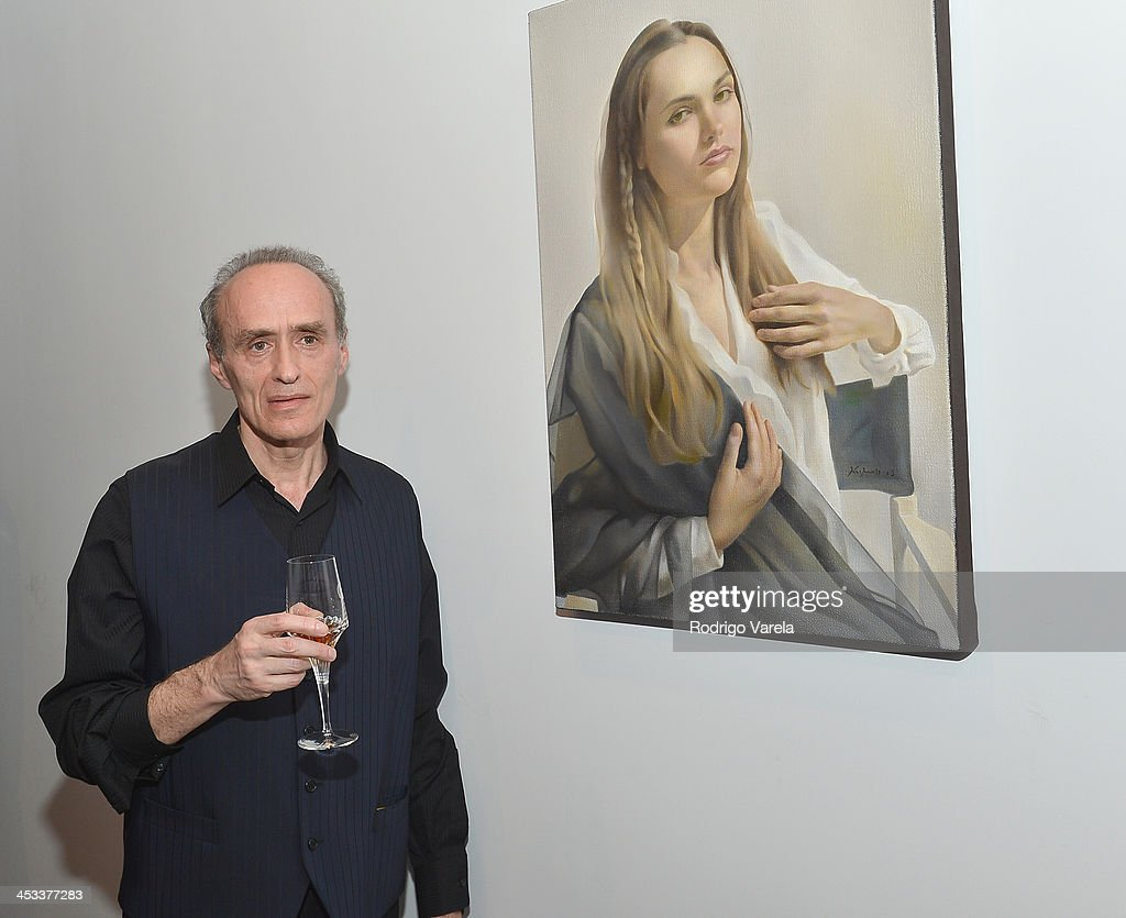 Artist Roman Kriheli attends the Roman Kriheli Un:veiled Exhibit At Avant Gallery, Featuring The Unveiling Of 'The Most Beautiful Woman In The World' Painting at Epic Hotel on December 3, 2013 in Miami, Florida.