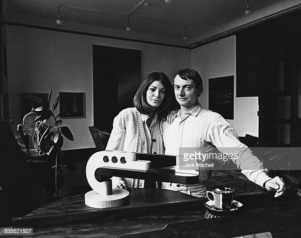 Artist Roy Lichtenstein and wife Dorothy photographed in 1968