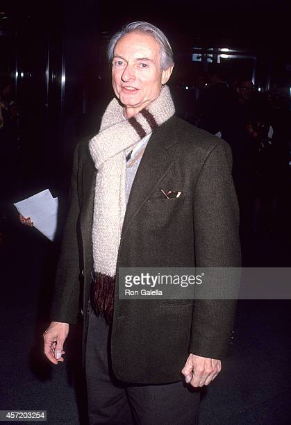 Artist Roy Lichtenstein attends the 'LA Story' New York City Premiere on January 30 1991 at the Roy Niuta Titus Theater 1 Museum of Modern Art in New...
