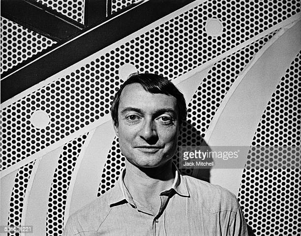 Artist Roy Lichtenstein photographed in 1968