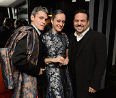 Artist Ruben Toledo artist Isabel Toledo and designer Narciso Rodriguez attend the El Museo Del Barrio 2016 PreGala Bash at Omar's on February 29...