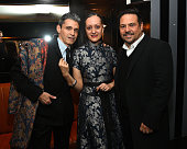Artist Ruben Toledo with fashion designers Isabel Toledo and Narciso Rodriguez at the El Museo Del Barrio PreGala Bash at Omar's on February 29 2016...