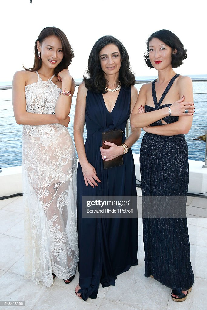 Artist Sabt Li, President of Fred, Rachel Marouani and <a gi-track='captionPersonalityLinkClicked' href=/galleries/search?phrase=Fleur+Pellerin&family=editorial&specificpeople=8784076 ng-click='$event.stopPropagation()'>Fleur Pellerin</a> attend Fred Jeweler Celebrates 80 Years of Creation at Hotel Cap Estel in Eze, France on June 23, 2016.