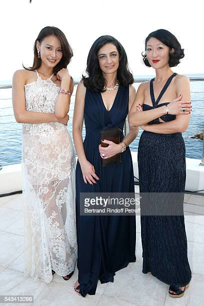 Artist Sabt Li President of Fred Rachel Marouani and Fleur Pellerin attend Fred Jeweler Celebrates 80 Years of Creation at Hotel Cap Estel in Eze...