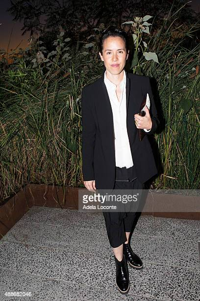 Artist Sarah Sze attend at the Annual Fundraising Event for High Line Art at Diller von Furstenberg Sundeck on September 16 2015 in New York City